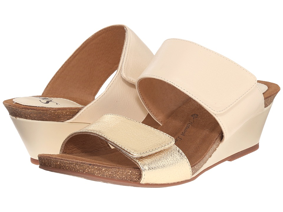 Sofft - Vangie (Beige/Gold Odyssey/Cow Metallic) Women's Wedge Shoes