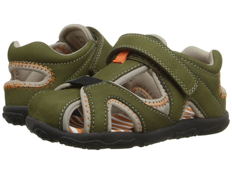 Umi Kids - Nolan (Toddler) (Olive Multi) Boys Shoes