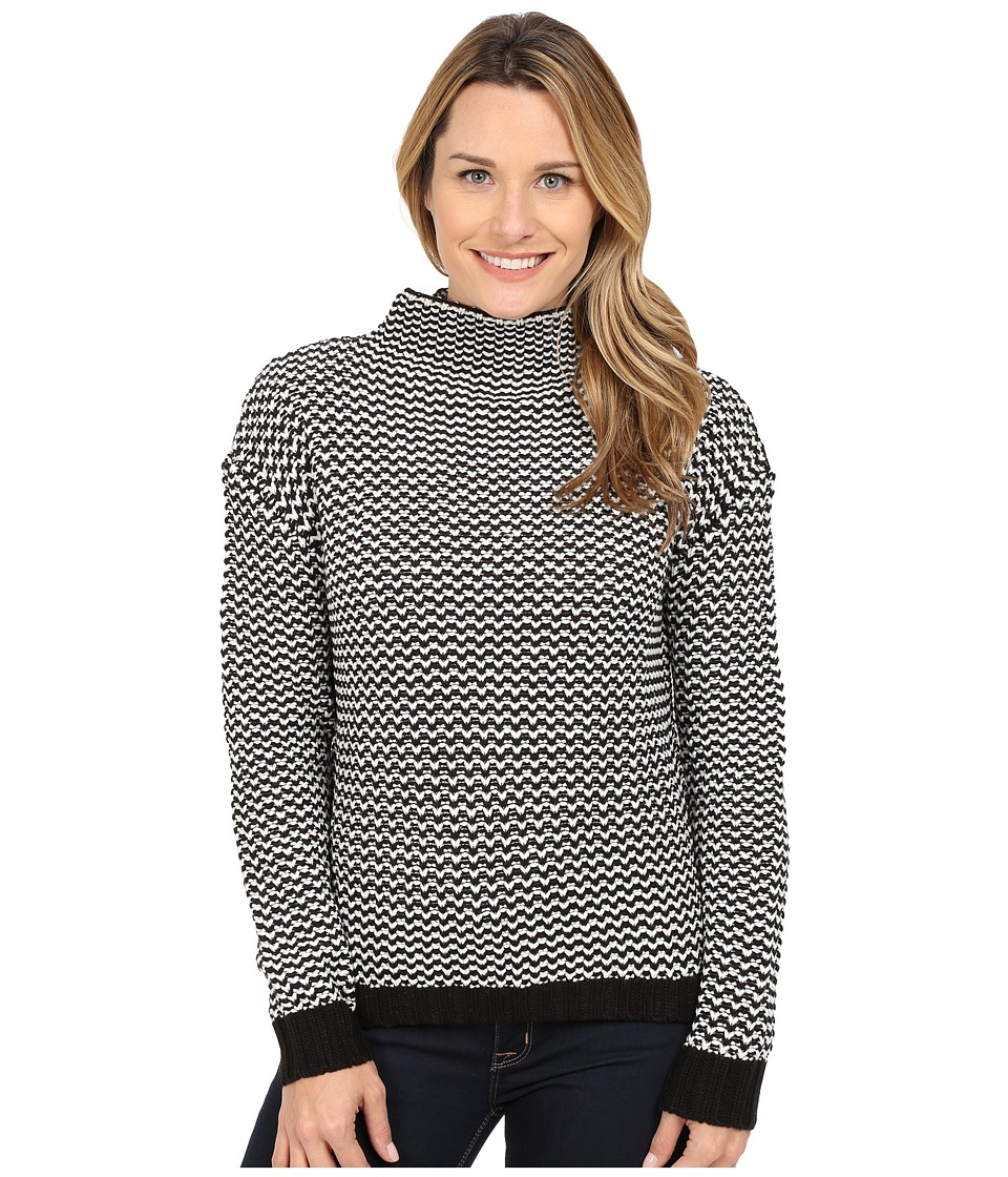 Sanctuary - Roller Mock Sweater (Black/White) Women's Sweater