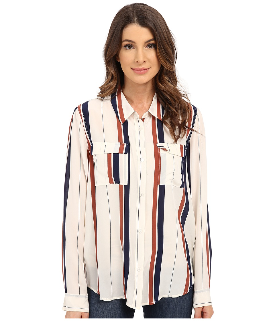 Sanctuary - Silk Tailored Boyfriend Shirt (Marquis Stripe) Women's Blouse