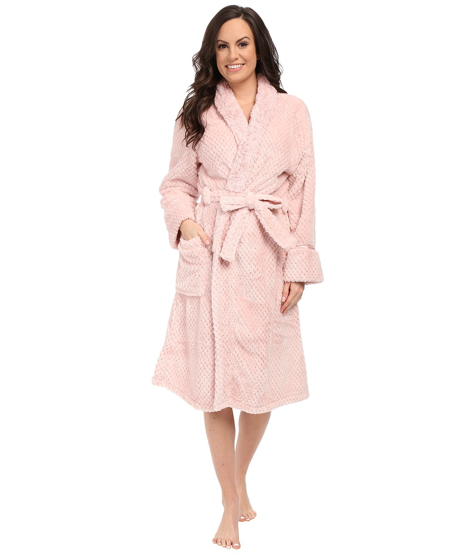 P.J. Salvage - Waffle Robe (Blush) Women's Robe plus size,  plus size fashion plus size appare