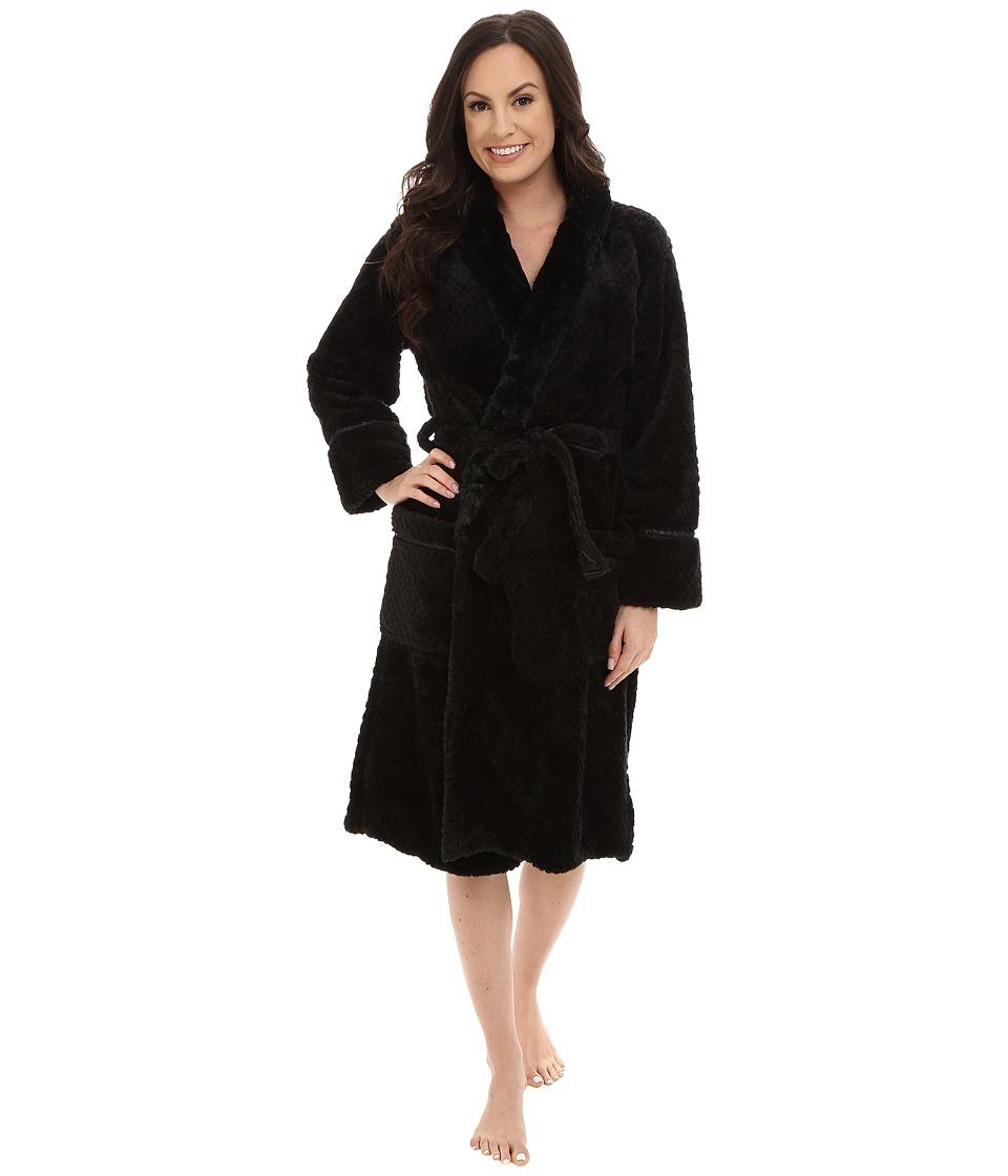 P.J. Salvage - Waffle Robe (Black) Women
