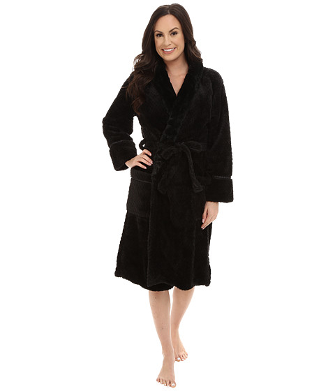 P.J. Salvage - Waffle Robe (Black) Women's Robe