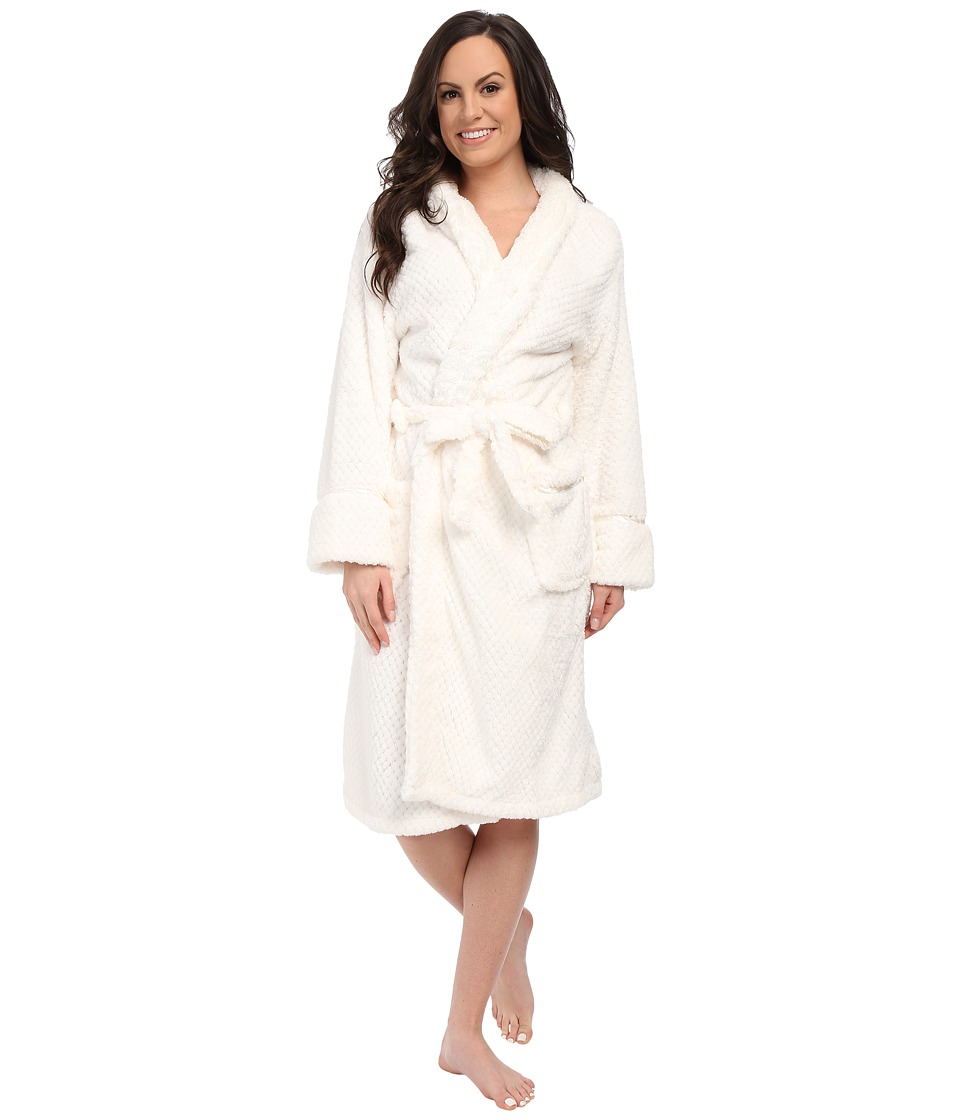 P.J. Salvage - Waffle Robe (Ivory) Women's Robe plus size,  plus size fashion plus size appare