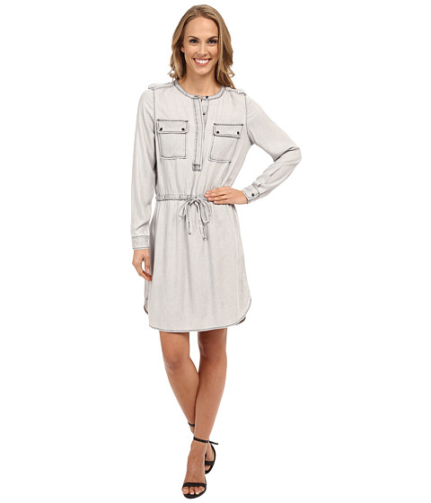 TWO by Vince Camuto - Long Sleeve Pastel Fade Two-Pocket Shirtdress (Mountain) Women
