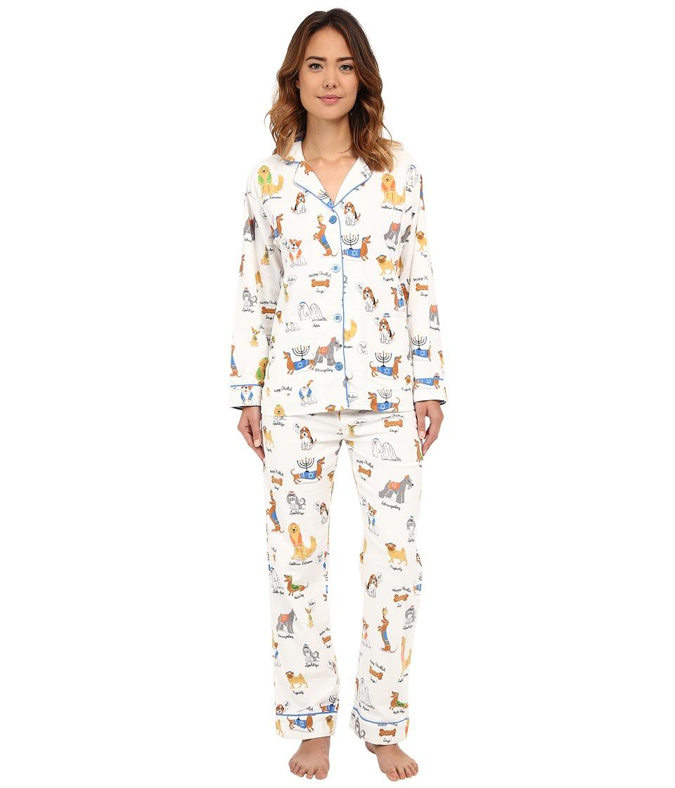 P.J. Salvage - Hanukkah Flannel Pajama Set (Ivory) Women's Pajama Sets