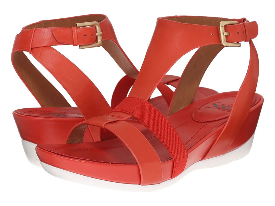 Sofft - Contessa (Red Tangerine Lucky Calf Milled) Women's Sandals