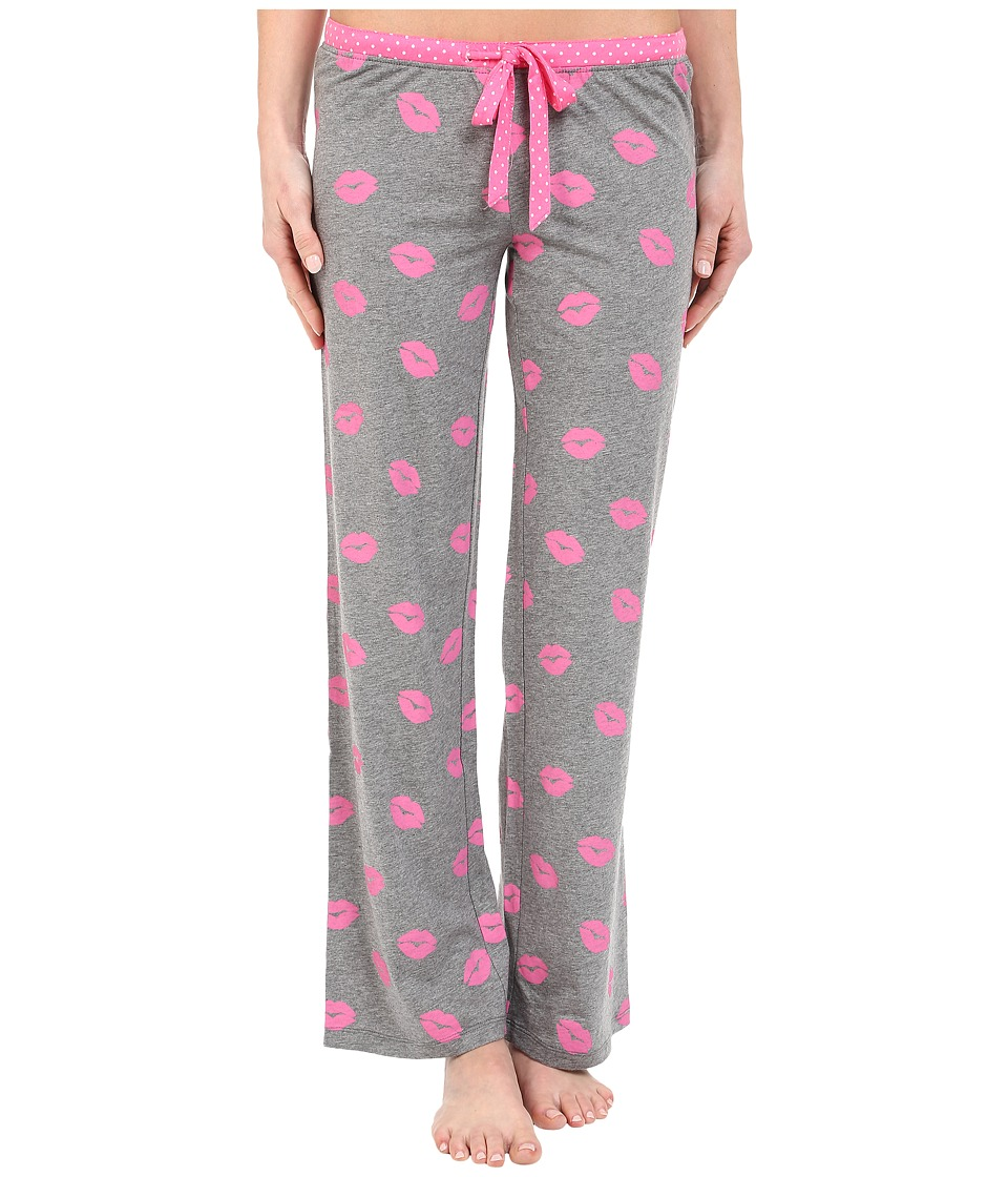 P.J. Salvage - Giftables Lips Pajama Pants (Heather Grey) Women's Pajama