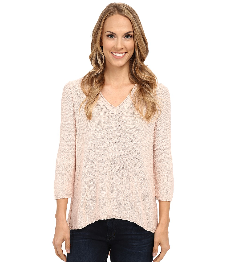 TWO by Vince Camuto - Long Sleeve Split Back Chiffon Shirttail Tunic (Pearl Glow) Women's Blouse
