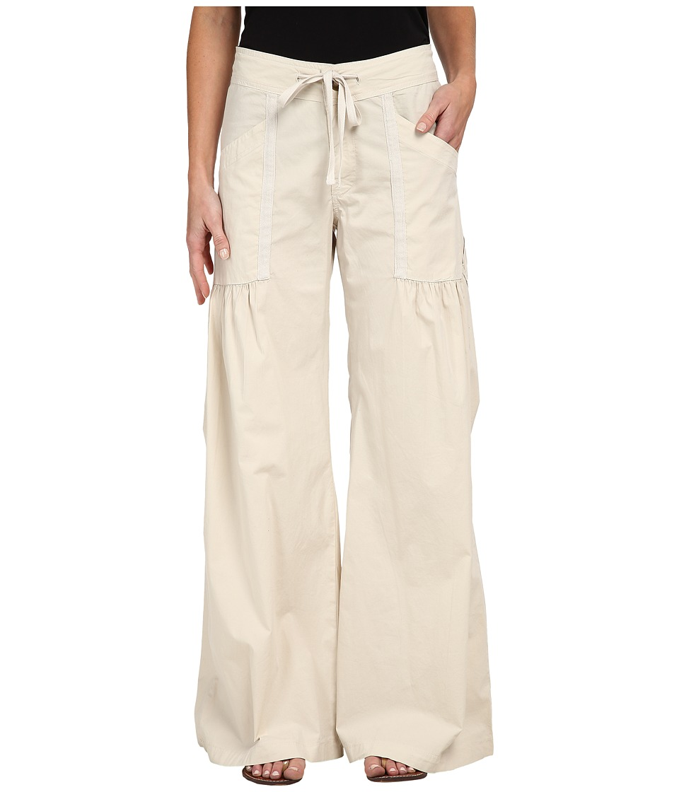 XCVI - Willowy Wide Leg Stretch Poplin Pant (Sea Salt) Women's Casual Pants