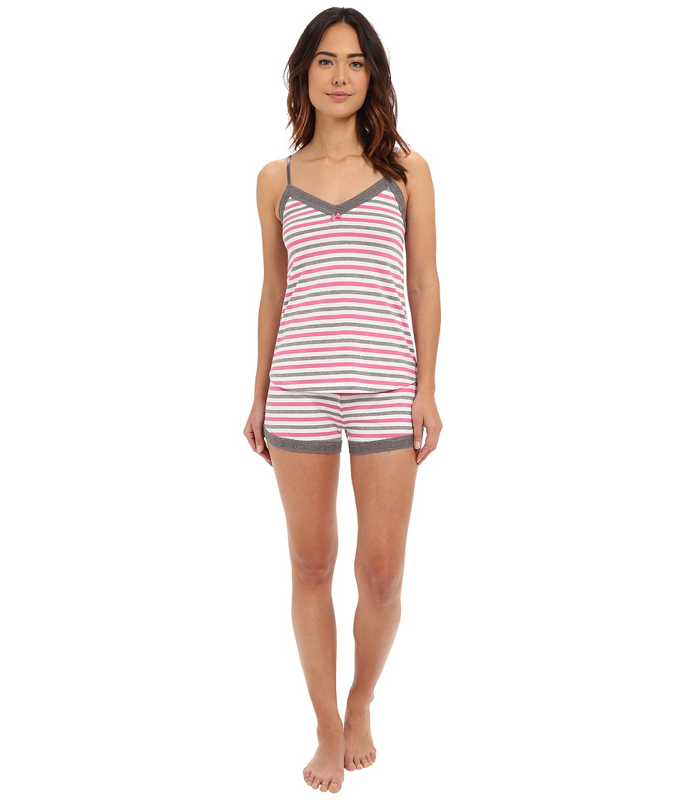 P.J. Salvage - Giftables Stripe Sleep Set (Heather Grey) Women's Pajama Sets