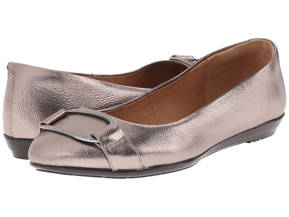 Sofft - Benton (Anthracite Cow Metallic) Women's Slip on Shoes