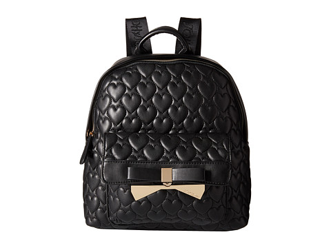 Betsey Johnson - Be Mine Forever Medium Backpack (Black) Backpack Bags