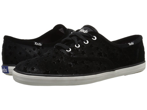 Keds - Champion Velvet Star (Black) Women's Shoes