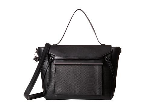 Steve Madden - Bamara (Black/Black Snake/Black) Satchel Handbags