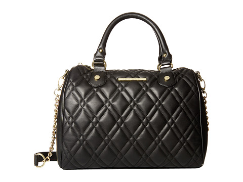 Steve Madden - Quilt Barrel (Black) Satchel Handbags