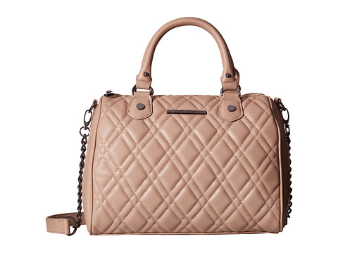 Steve Madden - Quilt Barrel (Taupe) Satchel Handbags