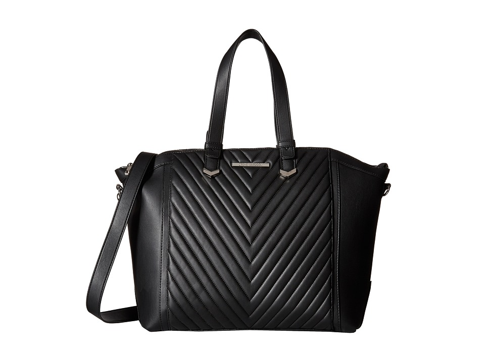 Steve Madden - Blou Quilt (Black) Satchel Handbags