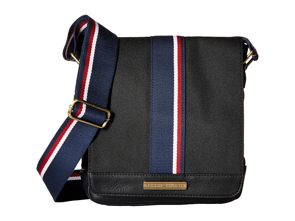 Tommy Hilfiger - Aiden Nylon Camera Bag (Black) Messenger Bags