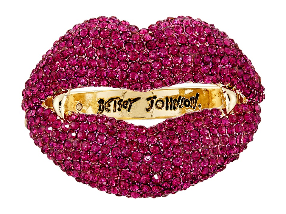 Betsey Johnson - Dark Shadows Vampire Lips Bangle (Pink) Bracelet