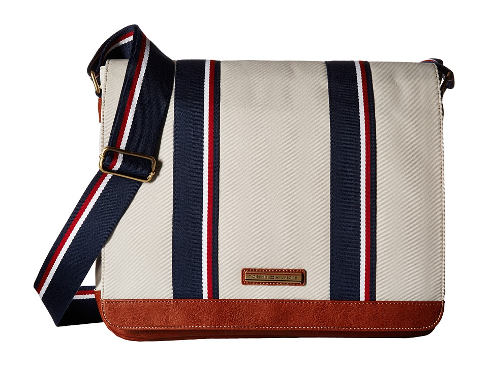 Tommy Hilfiger - Aiden Nylon Messenger Bag (Khaki) Messenger Bags