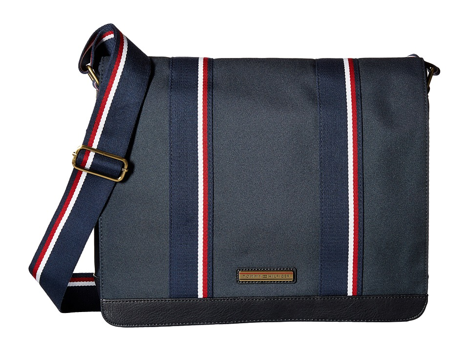 Tommy Hilfiger - Aiden Nylon Messenger Bag (Navy) Messenger Bags