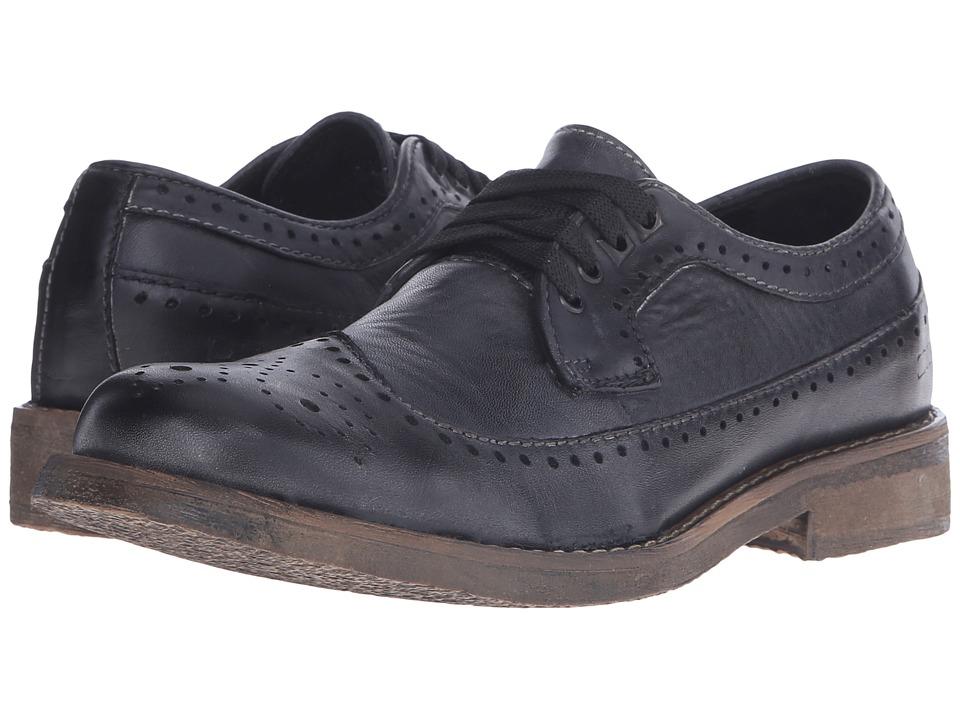 Bed Stu - Beacon (Black Garment Dye Leather) Men's Lace up casual Shoes