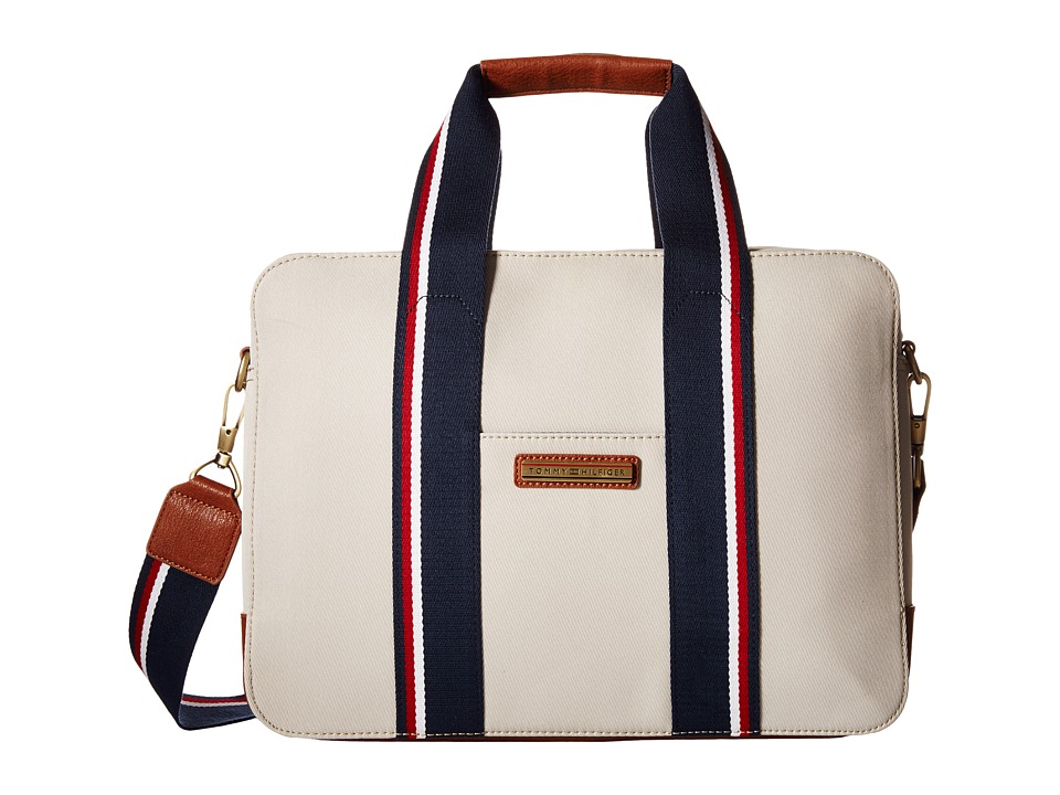 Tommy Hilfiger - Aiden Nylon Briefcase (Khaki) Briefcase Bags
