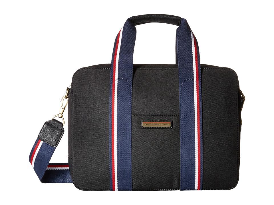 Tommy Hilfiger - Aiden Nylon Briefcase (Black) Briefcase Bags