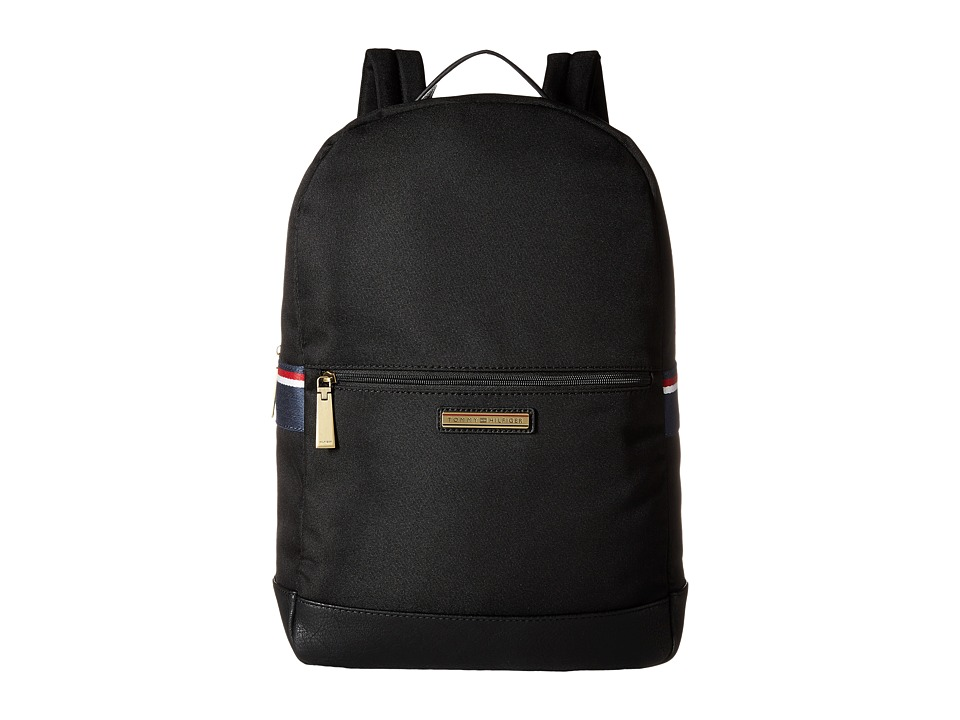 Tommy Hilfiger - Aiden Nylon Backpack (Black) Backpack Bags
