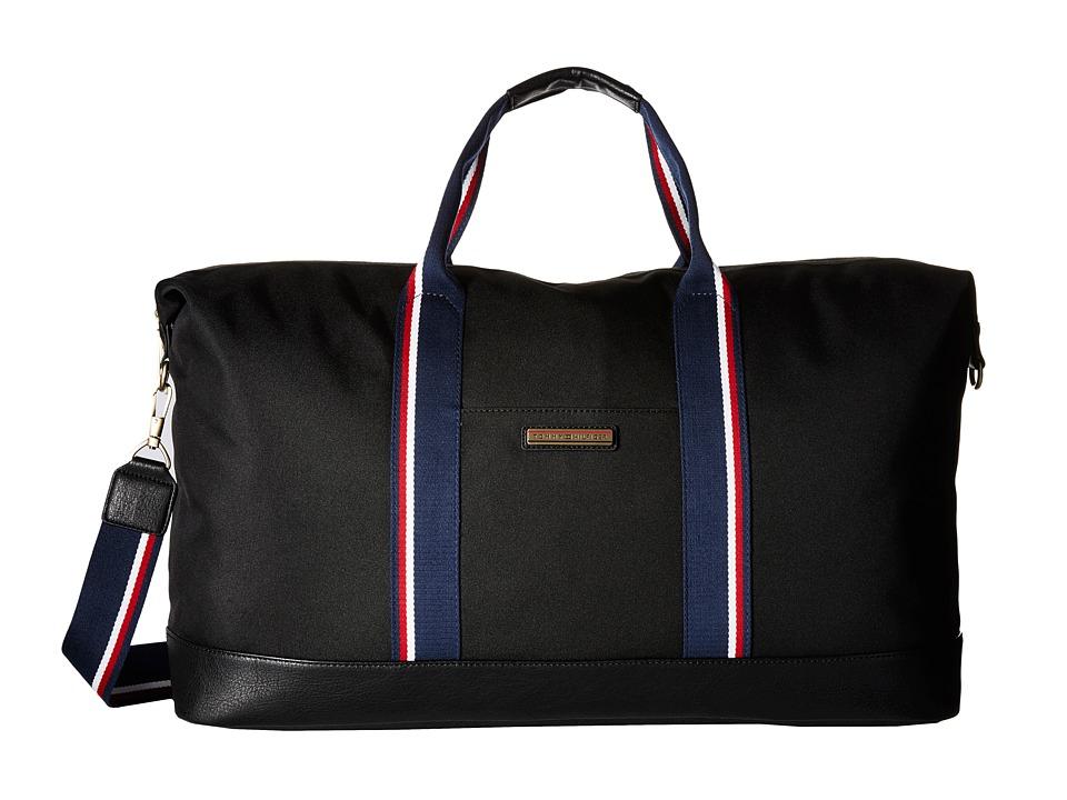 Tommy Hilfiger - Aiden Nylon Duffel (Black) Duffel Bags