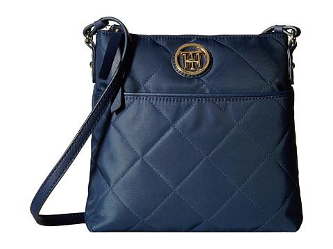Tommy Hilfiger - Hayden - Quilted Nylon North South Crossbody (Navy) Cross Body Handbags