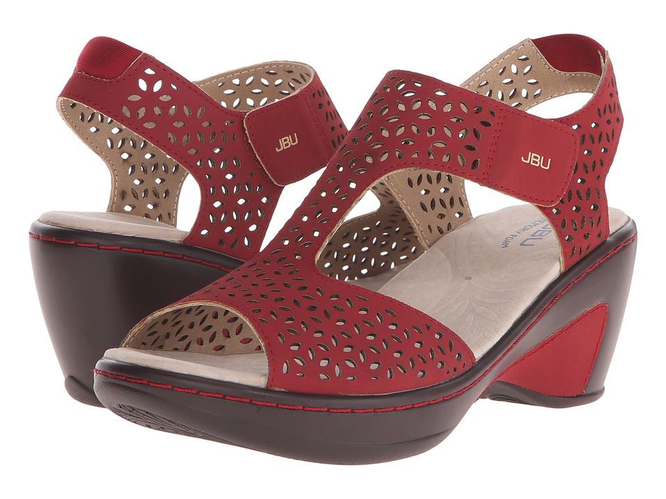 JBU - Chloe (Red) Women's Wedge Shoes