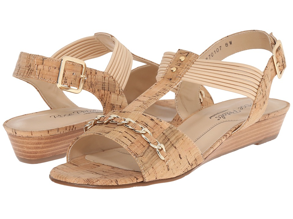 Rose Petals - Jasmine (Gold Cork) Women's Wedge Shoes
