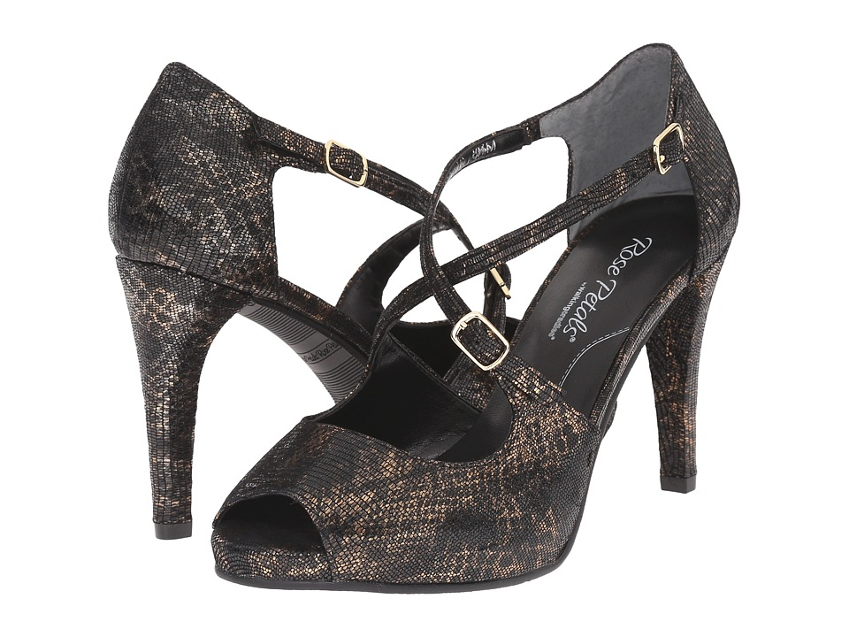 Walking Cradles Lissa (Black/Bronze Lizard) High Heels