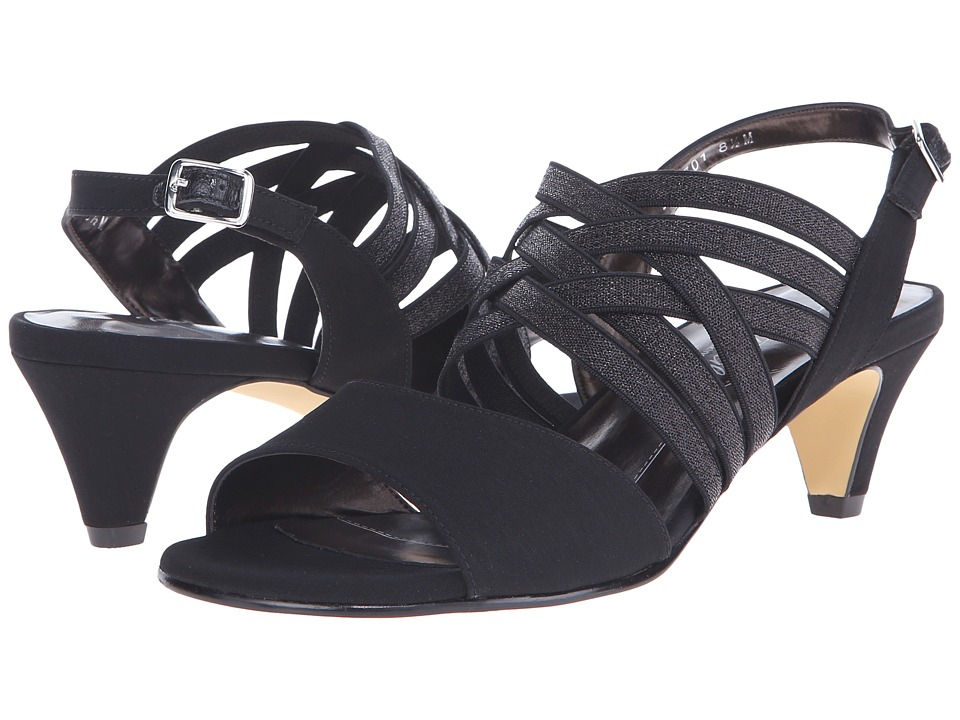 Rose Petals - Lively (Black Micro) Women's Dress Sandals