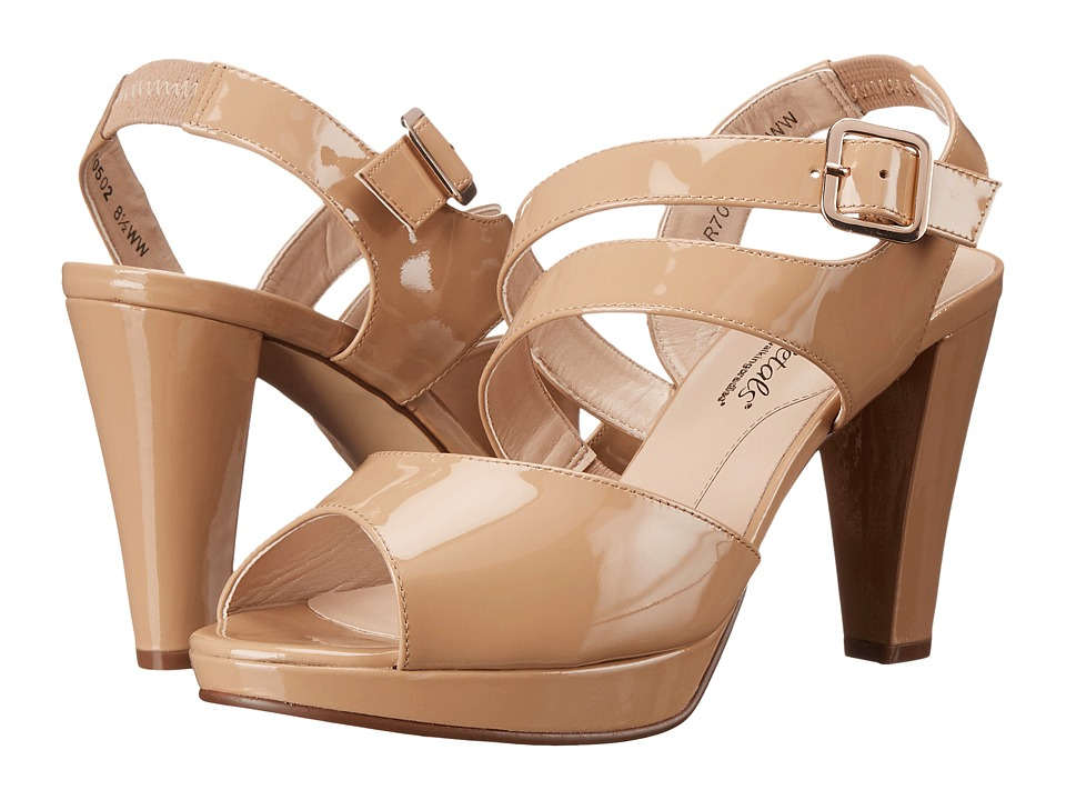 Rose Petals - Presley (New Nude Patent) High Heels