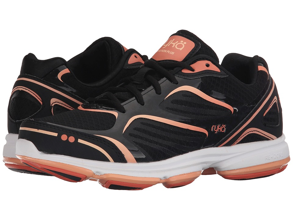 Ryka - Devotion Plus (Black/Fusion Coral/Peach Nectar) Women's Shoes