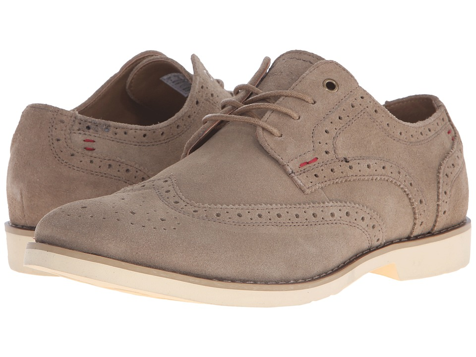 Hush Puppies - Fowler EZ Dress (Taupe Suede) Men's Lace Up Wing Tip Shoes