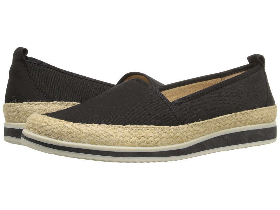 Naturalizer - Davenport (Black Denim Fabric) Women's Flat Shoes