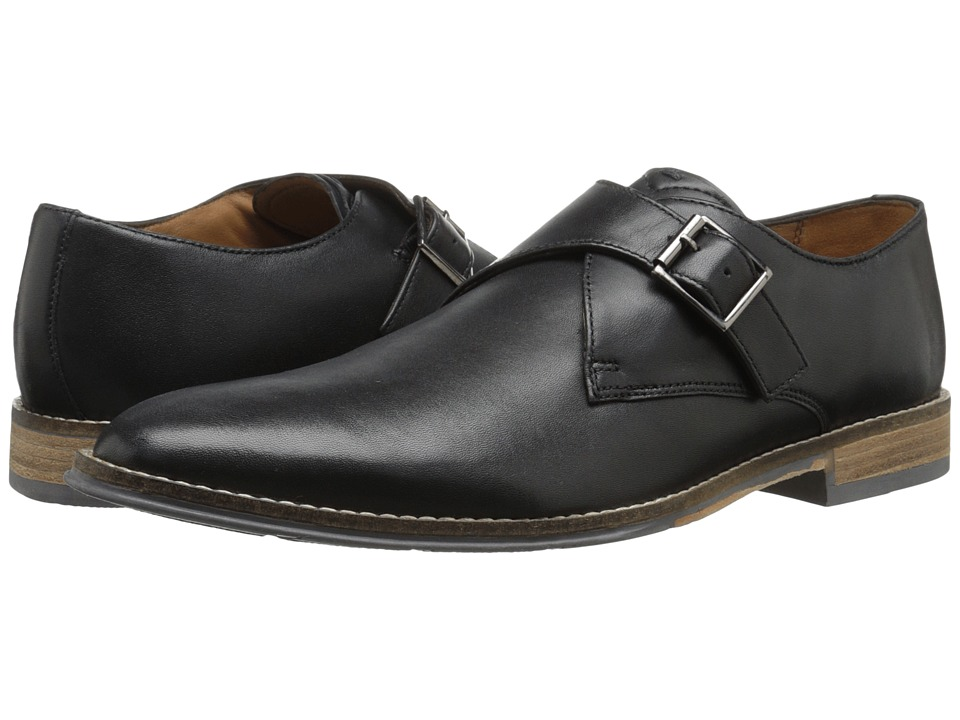 Hush Puppies - Gaston Style (Black Smooth Leather) Men's Slip-on Dress Shoes