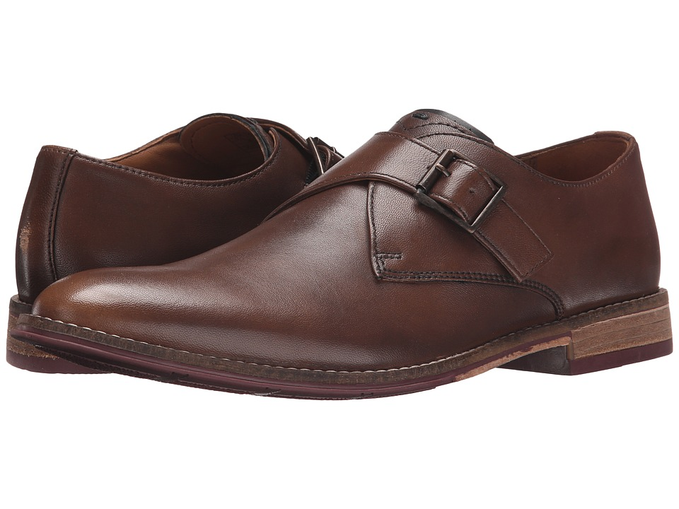 Hush Puppies - Gaston Style (Tan Smooth Leather) Men's Slip-on Dress Shoes