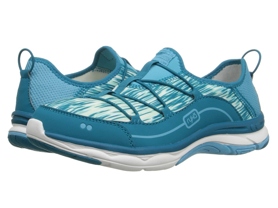 Ryka - Feather Pace (Detox Blue/Enamel Blue/Mint Ice/White) Women's Shoes