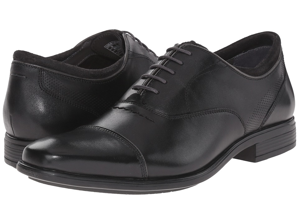 Hush Puppies - Evan Maddow (Black Leather) Men's Lace Up Cap Toe Shoes