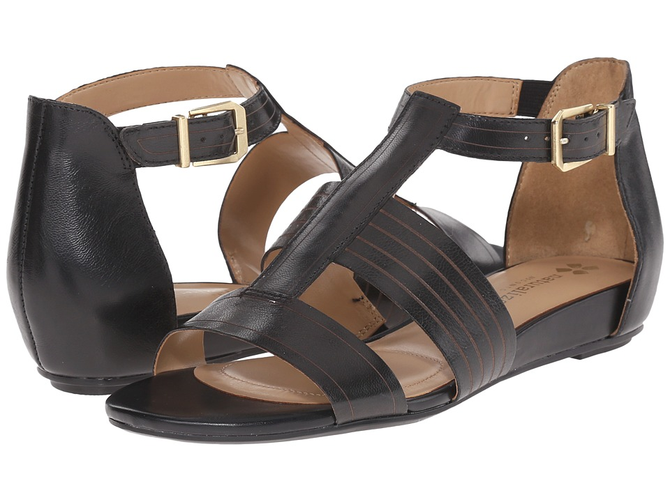 Naturalizer - Longing (Black Leather/Matching Footbed) Women's Sandals