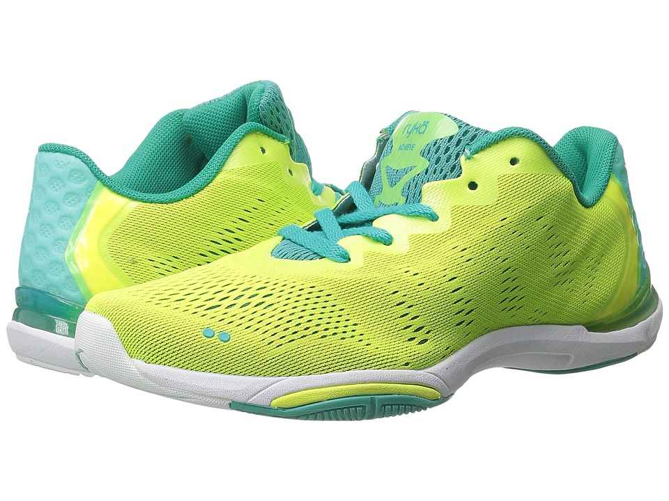 Ryka - Achieve (Lime Shock/Teal Blast/White) Women's Shoes