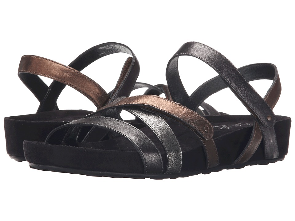 Walking Cradles - Pool (Metallic Multi/Black Suede Wrap) Women's Sandals