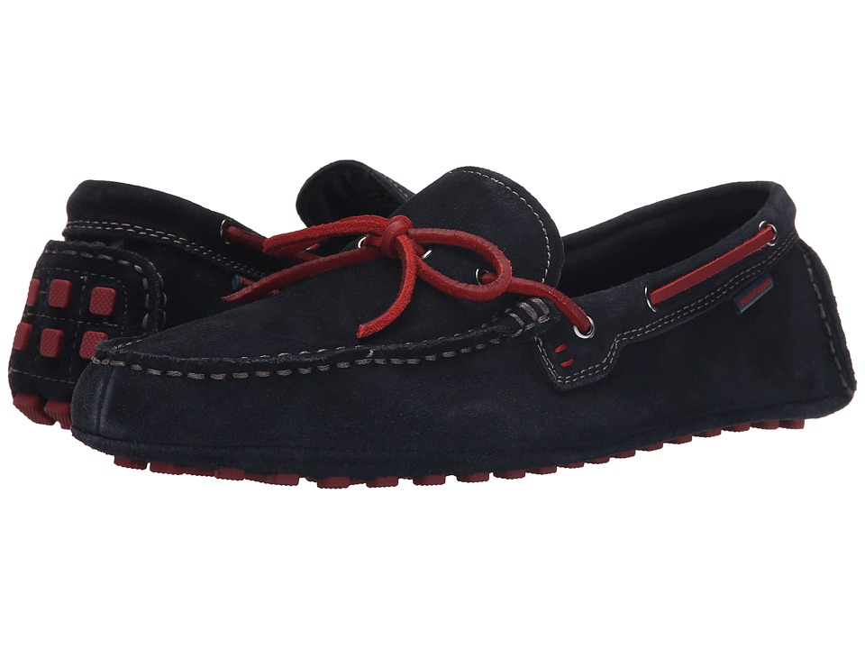 Hush Puppies - Lynx Terveen (Navy Suede) Men's Slip on Shoes