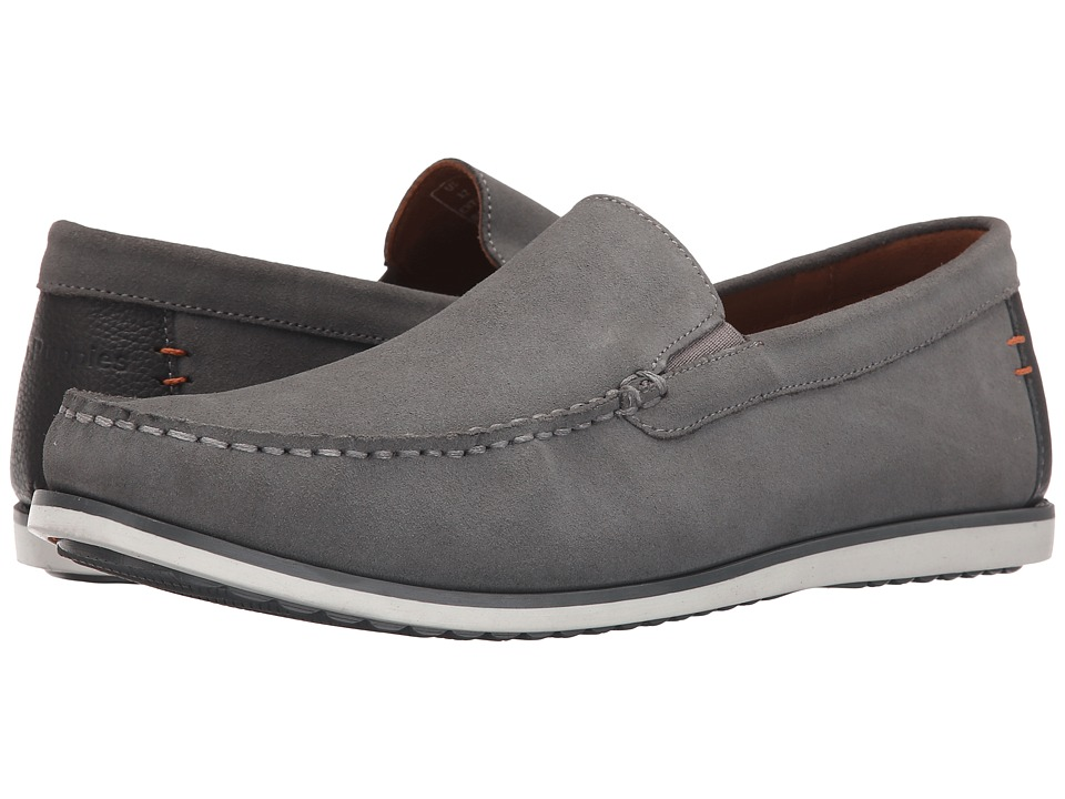 Hush Puppies - Bob Portland (Light Grey Suede) Men's Slip on Shoes