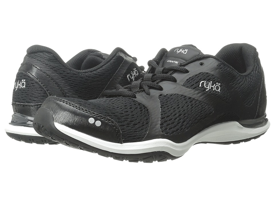 Ryka - Grafik (Black/Chrome Silver/Iron Grey) Women's Shoes